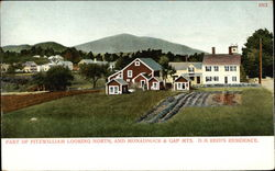Part of Fitzwilliam Looking North, and Monadnock & Gap Mts., D.H. Reid's Residence