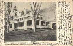 LORENZO GRISWOLD'S MANSION Postcard