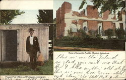 Present Post Office and Postmaster, Ruins of Jacquelin-Ambler Mansion