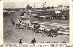 At the First Turn, Brockton Fair Postcard