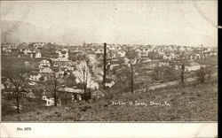 Looking over section of Jersey Shore Postcard