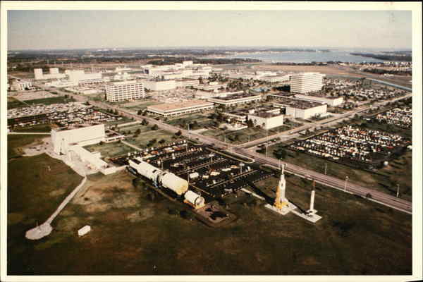 Aerial View of The Johnson Space Center Houston Texas