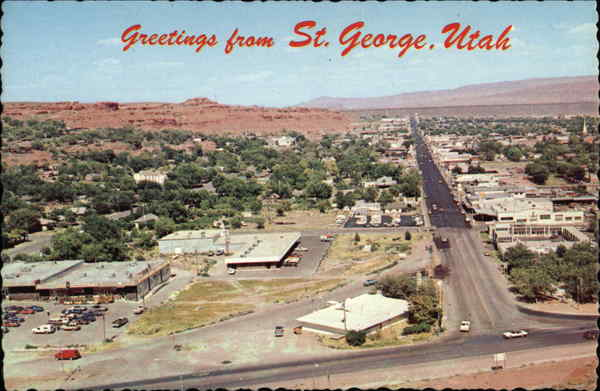 Aerial View of Town St. George Utah