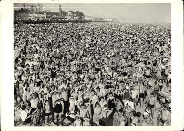 Coney Island, c. 1938, photograph by Weegee New York