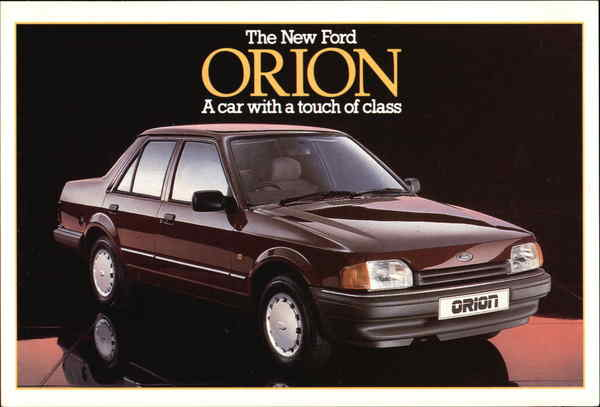 The New Ford Orion, A Car With a Touch of Class Cars