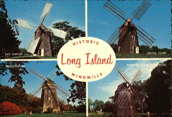 Historic Long Island Windmills New York