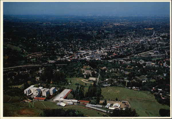Aerial View of Town Los Gatos California Gerald French