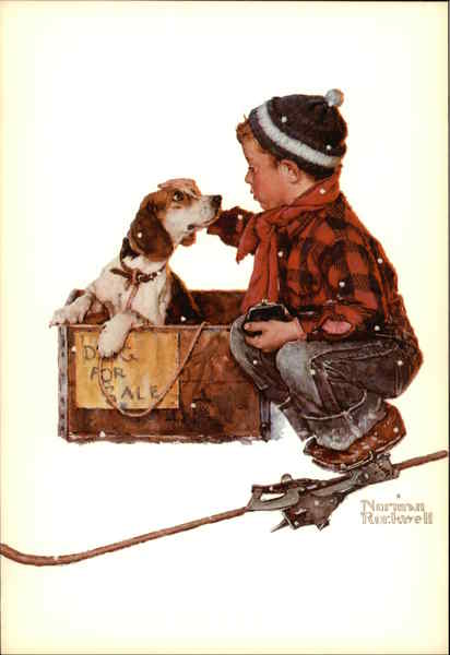 A Boy and His Dog A Boy Meets His Dog Norman Rockwell