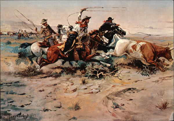 Herd Quitter by Charles Marion Russell Helena Montana