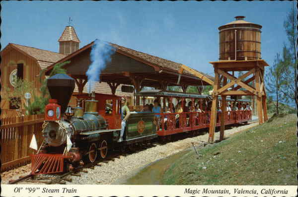 Magic Mountain - Ol' 99 Steam Train Valencia California
