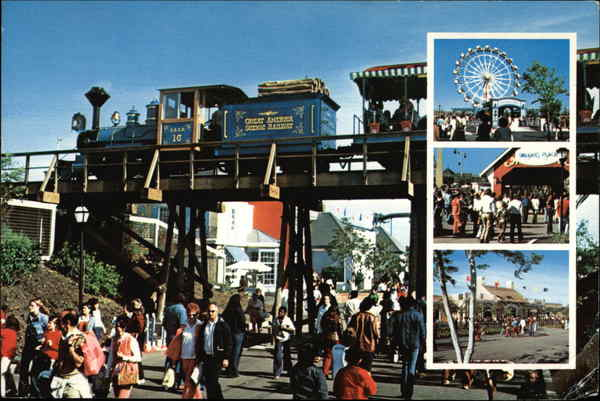 The Great America Railroad Amusement Parks