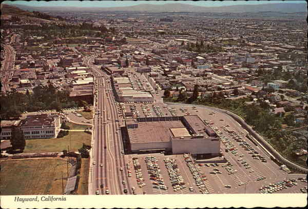Aerial View Foothill Boulevard Looking South Hayward California