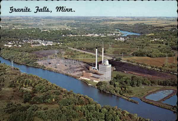 Granite City Coupons >> N.S.P. Plant and Minnesota River Granite Falls, MN