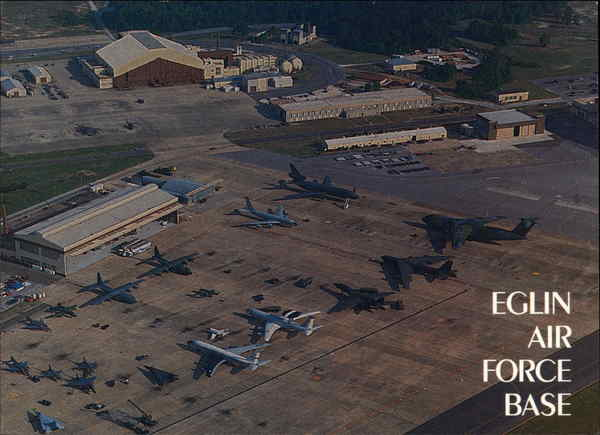 A Beautiful Panoramic View of Aircraft on Display During Open House Eglin Air Force Base Florida