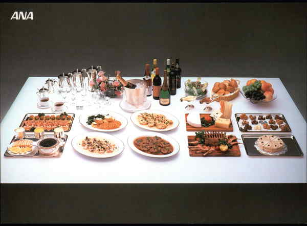 ANA All Nippon Airways First Class Meal Service Airline Advertising