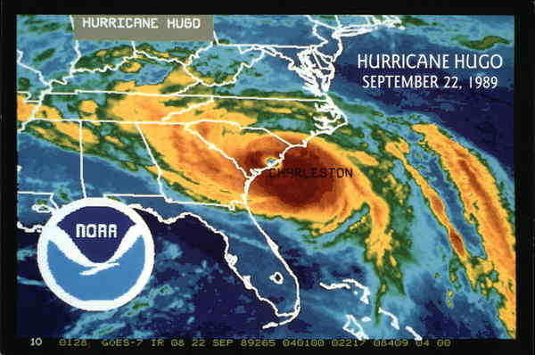 Hurricane Hugo, September 22, 1989 Charleston South Carolina