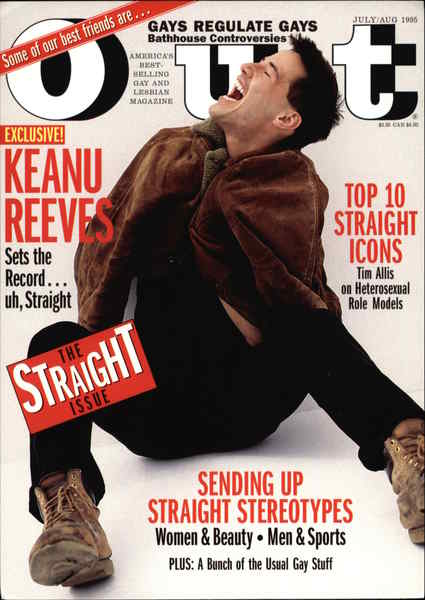Keanu Reeves - Cover of Out Magazine Rack Cards