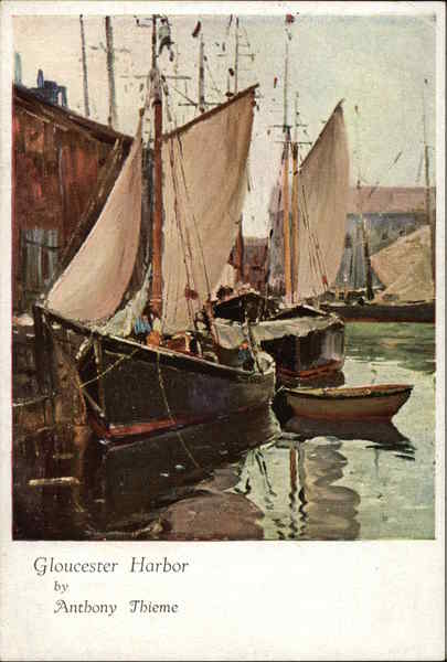 Gloucester Harbor Anthony Thieme Art