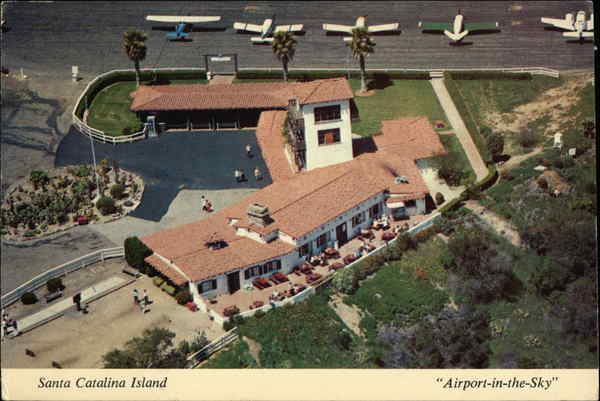Airport-in-the-Sky Terminal Building Santa Catalina Island California