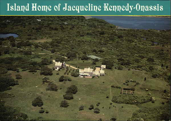Island Home of Jacqueline Kennedy-Onassis - Martha's Vineyard Gay Head Massachusetts