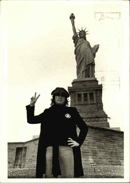 John Lennon, Statue of Liberty, 1974 New York City