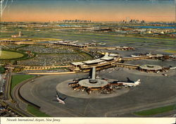Aerial View of Newark International Airport