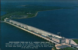 Moses-Saunders Power Dam of St. Lawrence Power Project Postcard