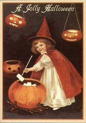 A Jolly Halloween (Reproduction) Postcard