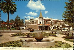 Town Plaza and Corner of Main Street and W, Santa Cruz Avenue