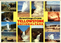 Greeting From Yellowstone National Park