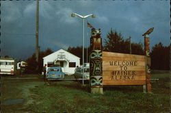 Welcome Sign for Haines, Alaska Postcard