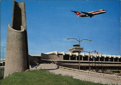 View of International Airport Postcard