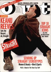 Keanu Reeves - Cover of Out Magazine