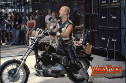 Rob Halford on Motorcycle - Judas Priest