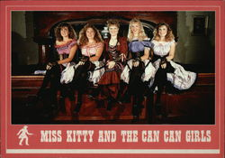 Miss Kitty and the Can Can Girls - Long Branch Saloon Variety Show Postcard