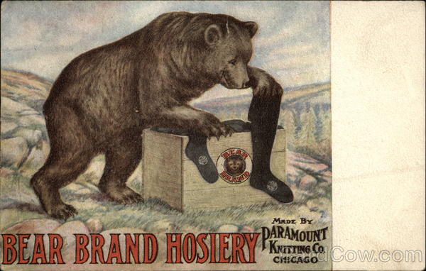 Bear Brand Hosiery Made by Paramount Knitting Co., Chicago