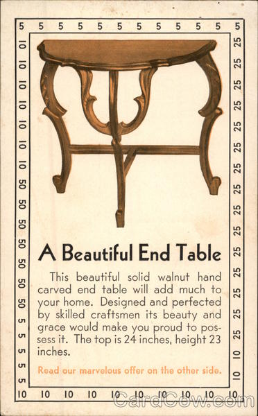 Walnut End Table Advertising