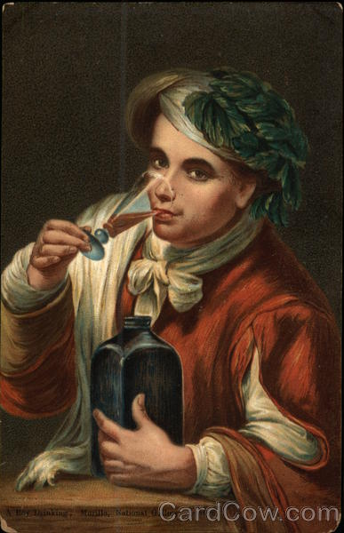 A Boy Drinking, Murillo, National Gallery, London Art