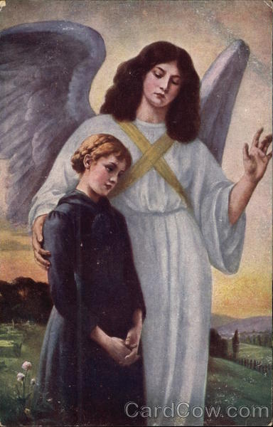Angel Blessing a Young Girl Angels