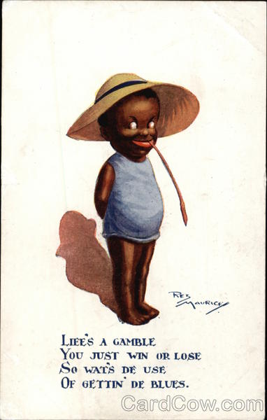 Life's a Gamble... - Black Child in Big Hat Res Mauricey