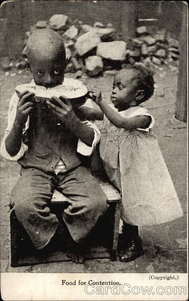 Food for Contention - Black Children eating Watermelon
