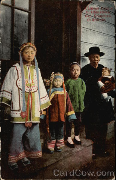 Chinese Family in Chinatown - San Francisco, California