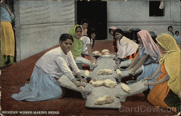 Mexican Women Making Bread