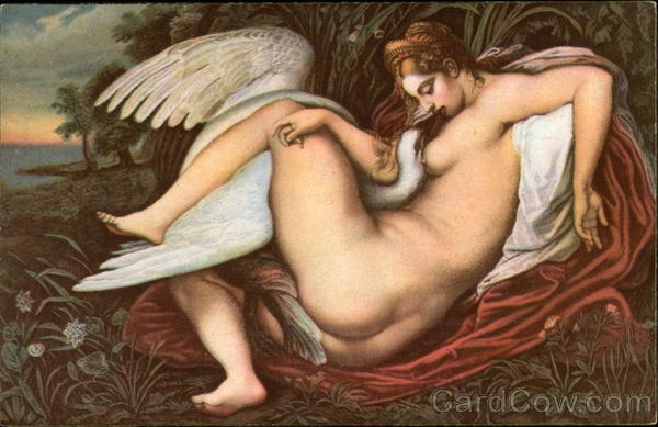 Leda with the Swan Michelangelo Risque & Nude