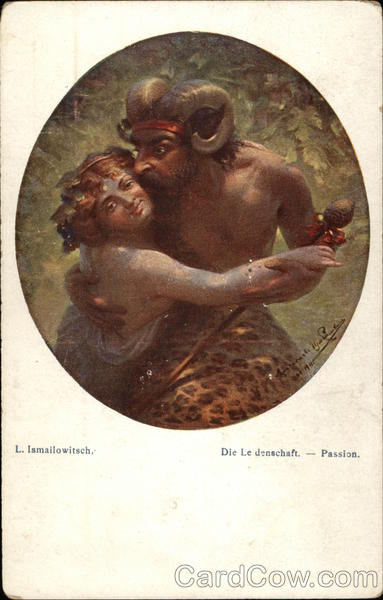 Passion - Woman & Horned Man Embrace L. Ismailowitsch