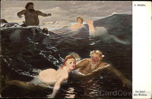 Play in the Waves by A. Bocklin Art