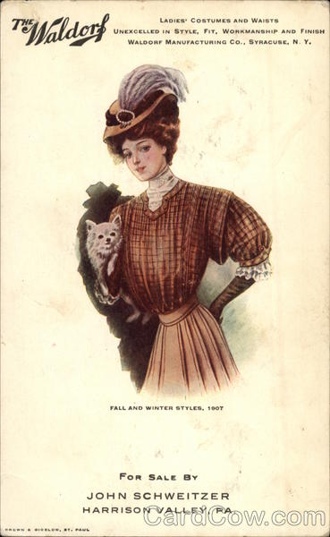 The Waldorf Fall and Winter Syles, 1907 Advertising