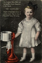 The Smallest Dairy Maid and the Smallest Cream Separator in the World
