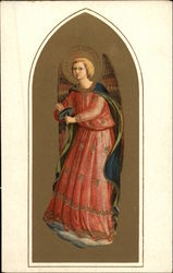 Angel Wearing Rose & Blue Robes