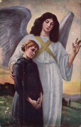 Angel Blessing a Young Girl